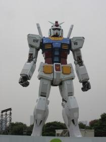 Gundam pronto para a batalha... er...